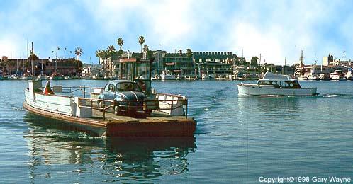 The Balboa Ferry Crossing Newport Bay From Peninsula To Island In Beach Ca