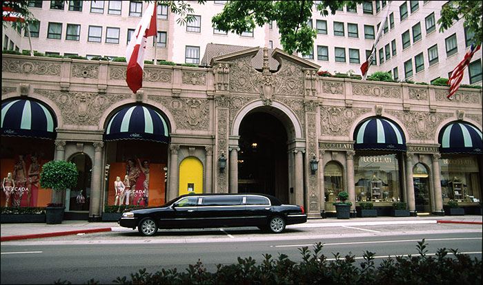 The Regent Beverly Wilshire Hotel At End South Of Rodeo Drive In Hills Ca