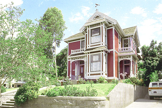 victorian house. the actual Victorian house