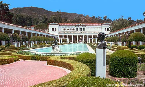 The J. Paul Getty Museum in Malibu. (photo)