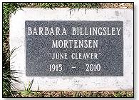 Barbara Billingsley's grave