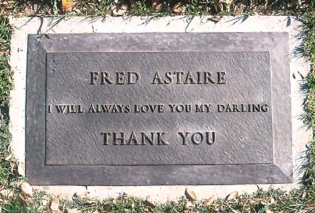 Fred Astaire S Grave Photo