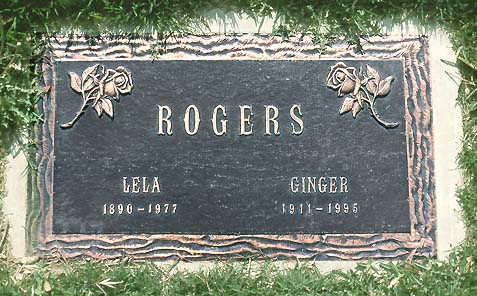 Ginger Rogers Grave Photo