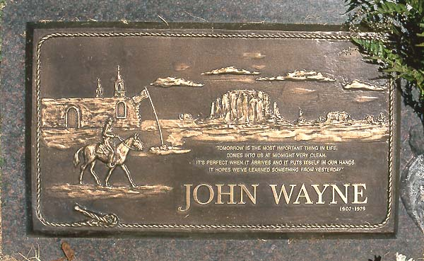 Image result for john wayne grave marker