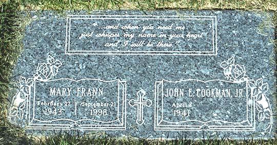 Mary Frann's grave (photo)