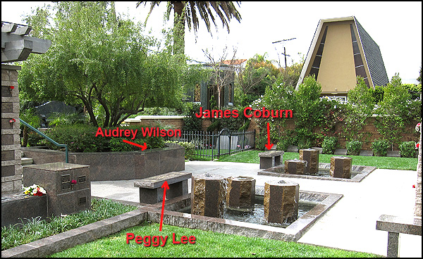 James Coburn's grave (photo)