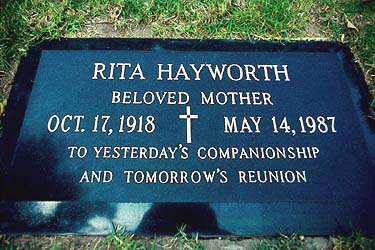 Rita Hayworth's grave (photo)