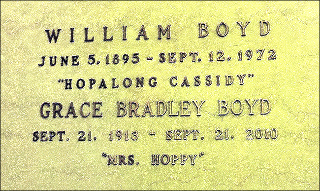 The graves of william boyd