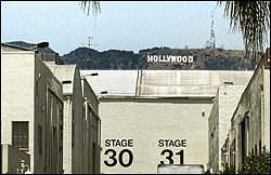 Hollywood Sign seen from Paramount Studios