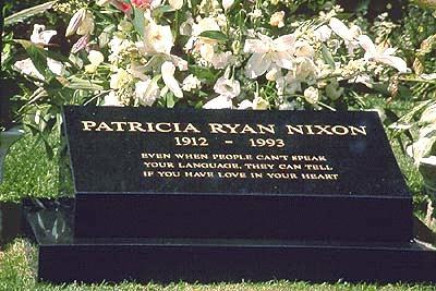the grave of pa... Richard Nixon Gravesite