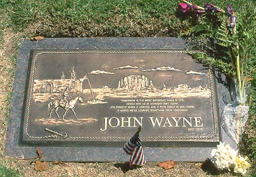 La Tombe De John Wayne Pacific View Memorial