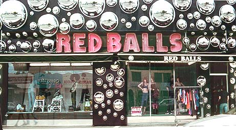one of the unique shops on melrose avenue red balls 7365 melrose ave
