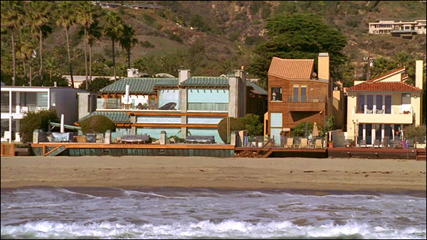 The o c establishing shots malibu homes Two and a half men house plan