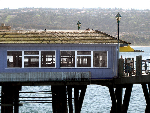 It Is No Longer Yellow With A Green Awning Now Dark Blue But The Restaurant Inside Remains Same See Photo Below