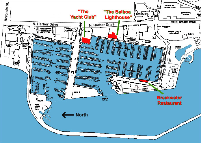 THE OC Filming Locations The Marina Map