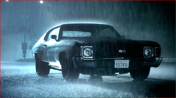 Chevrolet Van Nuys Teen Wolf Filming Locations: Kate Argent in the rain